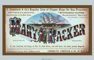 Clipper Ship - Mary Packer (Advert)